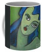 Girl With Green Eye Coffee Mug