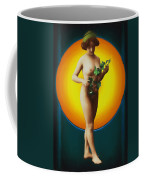 Girl With Leaves Coffee Mug