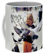 Girl With Pigeons Coffee Mug
