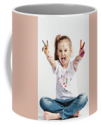 Girl With Victory Sign Sticking Out Her Tounge Coffee Mug