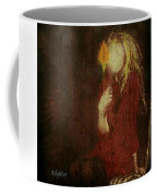 Girl With Yellow Flower Coffee Mug by Delight Worthyn