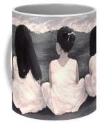 Girls In White At The Beach Coffee Mug by Patricia Awapara
