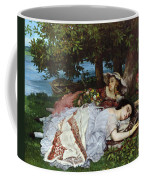 Girls On The Banks Of The Seine Coffee Mug by Gustave Courbet