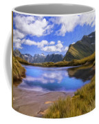 Glacier Lake On The Milford Track Coffee Mug