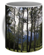 Glacier National Park Green Trees Mountains Coffee Mug