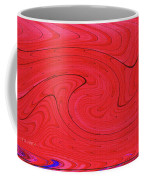 Glass And Steel Building Red Abstract Coffee Mug