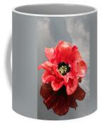 Glass Flower Coffee Mug
