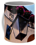 Glass Light Housing With Red Flower Architecture In Saint August Coffee Mug
