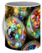Glass Marbles In Containers Coffee Mug