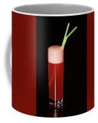 Glass Of Red Sherbet With Green Straws Coffee Mug