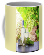 White Wine In Vineyard Coffee Mug