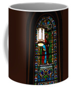Glass Window Of Saint Philip In The Basilica In Santa Fe  Coffee Mug