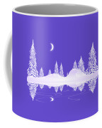 Glass Winter Coffee Mug