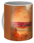 Glazed Affect Beach Scene Coffee Mug
