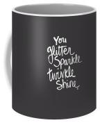 Glitter Sparkle Twinkle Coffee Mug by Linda Woods