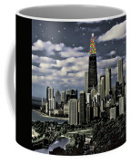Glittering Chicago Christmas Tree Coffee Mug