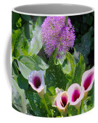 Globe Thistle And Calla Lilies Coffee Mug by Corey Ford