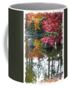 Glorious Fall Colors Reflection With Border Coffee Mug