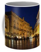Glossy Outdoor Living Room - Passeggiata On Piazza Duomo In Syracuse Sicily Coffee Mug