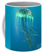 Glow Green Jellyfish Coffee Mug