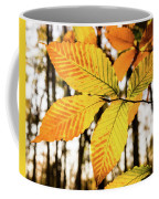 Glowing Beech Leaf Branch Coffee Mug