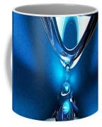 Glowing Blue Abstract Coffee Mug