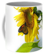 Glowing Monarch On Sunflower Coffee Mug