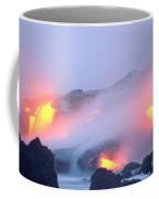 Glowing Orange Lava Coffee Mug