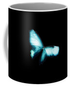 Glowing Soft Butterfly In Teal Blues Coffee Mug