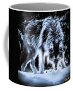 Glowing Wolf In The Gloom Coffee Mug