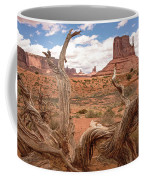 Gnarled Tree At Monument Valley  Coffee Mug