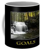 Goals Inspirational Motivational Poster Art Coffee Mug