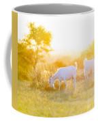 Goats Grazing In Field Coffee Mug