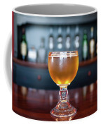 Goblet Of Refreshing Golden Beer On Shiny Dining Table Coffee Mug