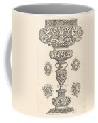 Goblet, Rim Decorated With Masque And Bouquet Of Fruit Coffee Mug