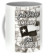 God Bless America And Texas Coffee Mug