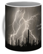 God Bless America Bw Lightning Storm In The Usa Desert Coffee Mug by James BO  Insogna