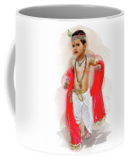 God Krishna Style Watercolor Coffee Mug