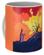 God Speaks To Moses From The Burning Bush Coffee Mug by Elizabeth Wang