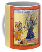 Goddess Bhadrakali Worshipped By The Gods. From A Tantric Devi Series Coffee Mug