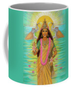 Goddess Lakshmi Coffee Mug by Sue Halstenberg