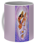 Goddess Saraswati Coffee Mug by Sue Halstenberg