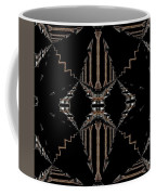 Gold And Black With Silver Design Abstract Coffee Mug