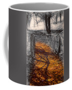 Gold And Orange Path Coffee Mug