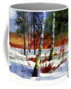Gold Bushes Watercolor Coffee Mug