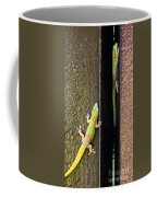 Gold Dusted Day Gecko Coffee Mug
