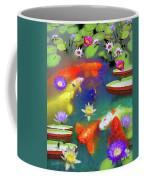 Gold Fish And Water Lily Pads Coffee Mug