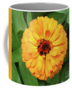 Gold Flower Coffee Mug