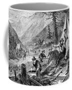 Gold Mining, 1853 Coffee Mug