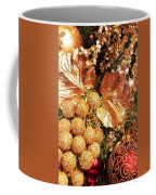 Gold Ornaments Holiday Card Coffee Mug